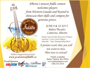 Bailey Theatre & Prairie West presents: Prairie West Fiddle Contest @ The Bailey Theatre