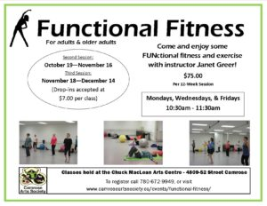 Function Fitness Third Session @ Chuck MacLean Arts Centre | Camrose | Alberta | Canada