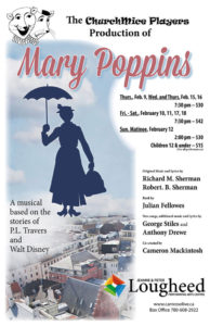 ChurchMice Players  -  Mary Poppins @ Jeanne and Peter Lougheed Performing Arts Centre | Camrose | Alberta | Canada