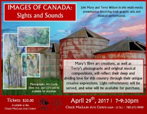 Images of Canada: Sights and Sounds @ Chuck MacLean Arts Centre | Camrose | Alberta | Canada