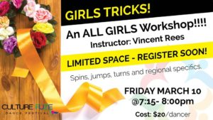 Culture FUZE Dance Workshop - all Girls @ Jeanne and Peter Lougheed Performing Arts Centre