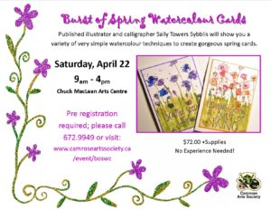 Burst of Spring Watercolour Cards @ Chuck MacLean Arts Centre | Camrose | Alberta | Canada