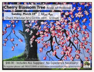 Cherry Blossom Tree: Acrylic Art Workshop @ Chuck MacLean Arts Arts Centre