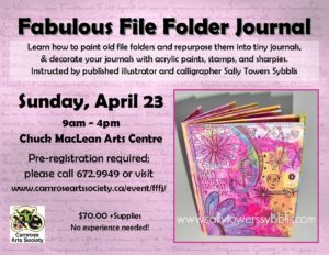 Fabulous File Folder Journal @ Chuck MacLean Arts Centre | Camrose | Alberta | Canada