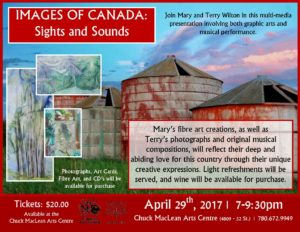 Images of Canada - Sights and Sounds @ Chuck MacLean Arts Centre | Camrose | Alberta | Canada