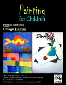 Painting for Children with Elbagir Osman @ Chuck MacLean Arts Centre | Camrose | Alberta | Canada