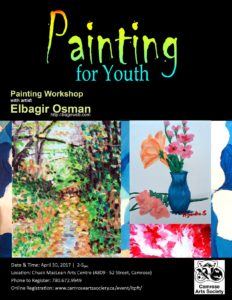 Painting For Youth with Elbagir Osman @ Chuck MacLean Arts Centre | Camrose | Alberta | Canada