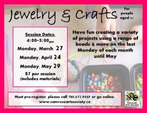 Jewelry & Craft Workshop @ Chuck MacLean Arts Centre | Camrose | Alberta | Canada