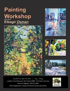 Landscape Painting Workshop with Elsbagir Osman @ Chuck MacLean Arts Centre | Camrose | Alberta | Canada