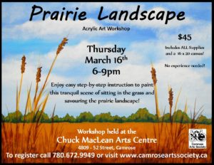 Prairie Landscape Acrylic Art Workshop @ Chuck MacLean Arts Centre