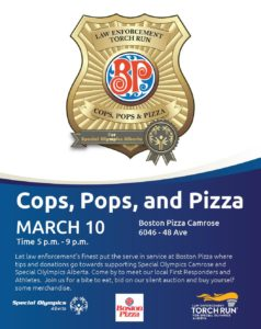 Cops, Pops and Pizza @ Boston Pizza  | Camrose | Alberta | Canada