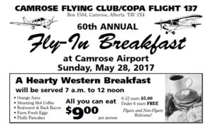 60th Annual Fly-In Breakfast @ Camrose Airport