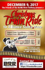 Christmas Train Ride to Alliance Santa Daze @ Depart from Forestburg