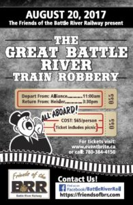 The Great Battle River Trail Robbery @ Depart from Alliance, AB