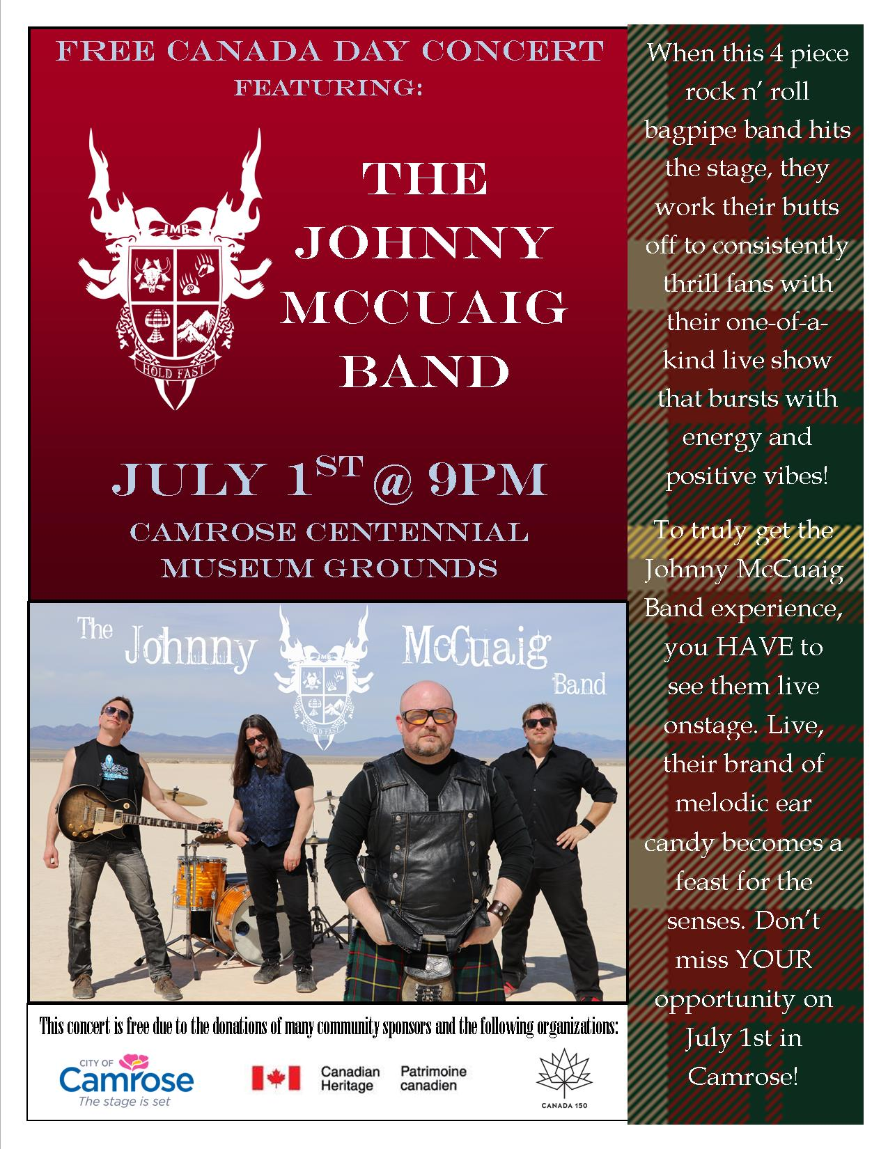 The Johnny McCuaig Band @ Camrose & District Centennial Museum